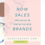 How SALES Deteriorate and Devalue Brands & How to Offer Value/Increase Revenue without the Use of Sales & Discounts