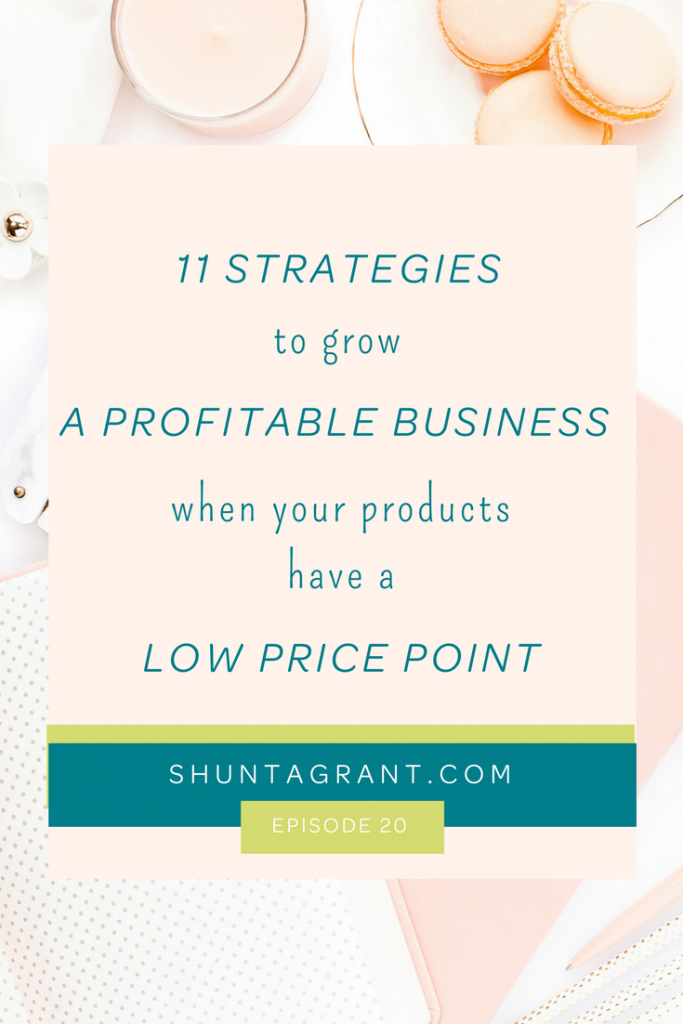 how to make sales with low price items