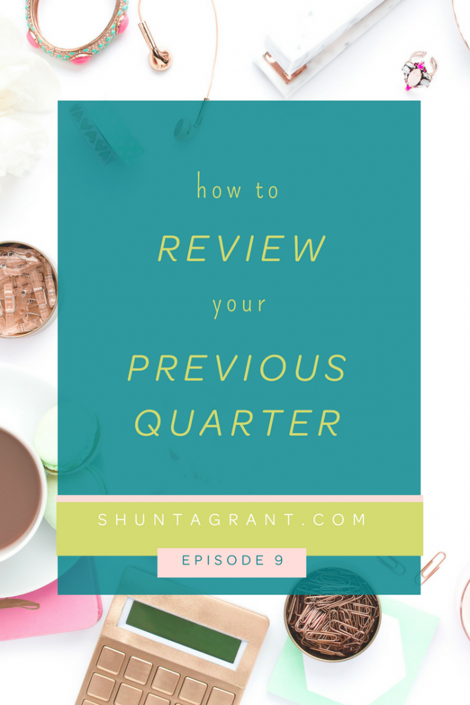 quarter review for business