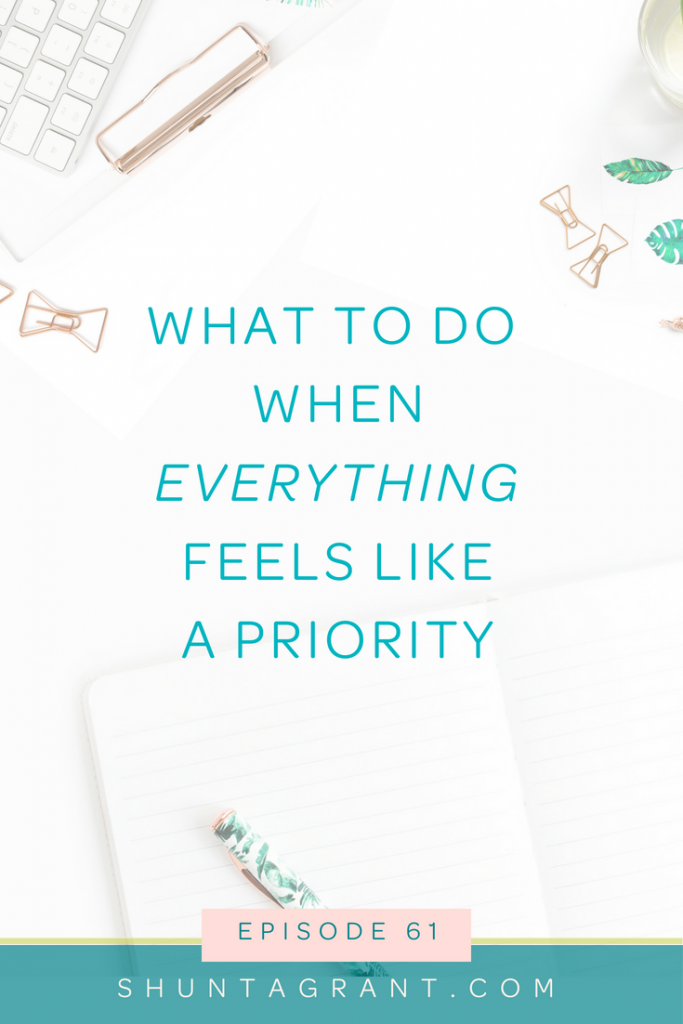 setting priorities in your business