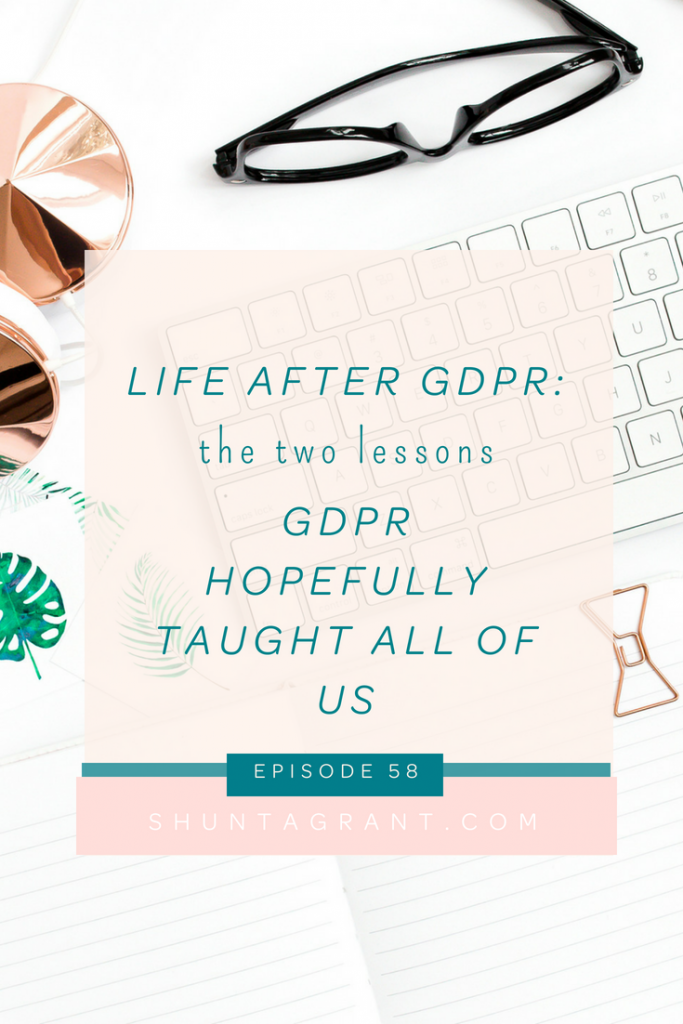 what we have learned from gdpr