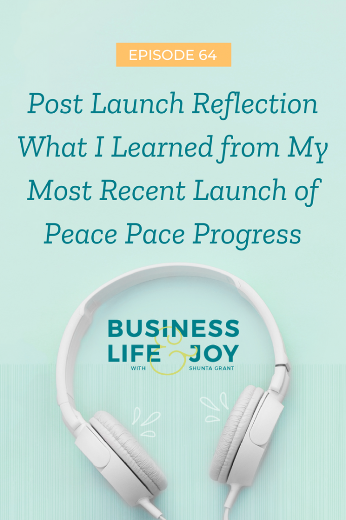 peace pace progress launch reflection