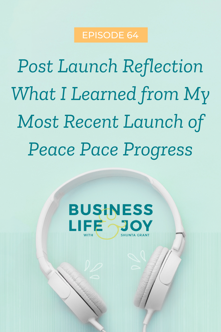 Post Launch Reflection What I Learned from My Most Recent Launch of Peace Pace Progress